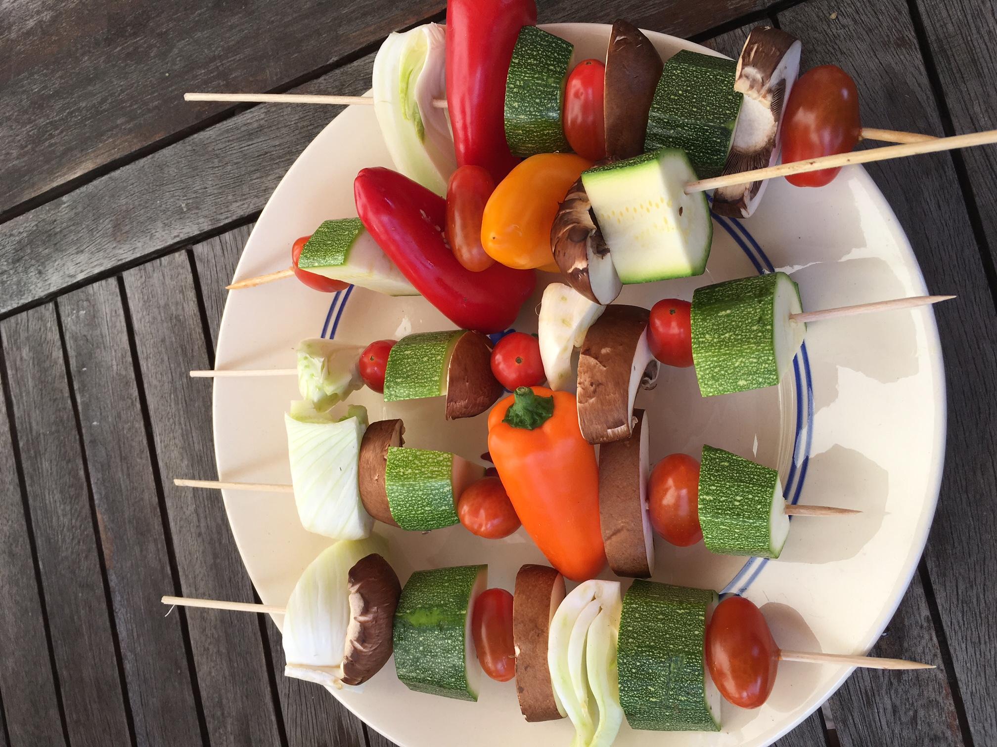 Les brochettes de légumes de Veggie Maman